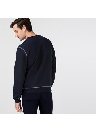 Lacoste Erkek Klasik Sweatshirt SH0062F.HDE Lacivert